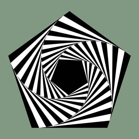 pentagon: pentagon spiral Illustration