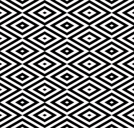 three dimensions: Abstract rhombus seamless pattern  with black and white Illustration