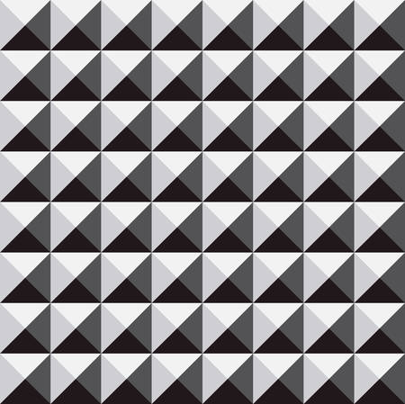 dimentional: abstract geometric seamless three dimentional with monochrome Illustration