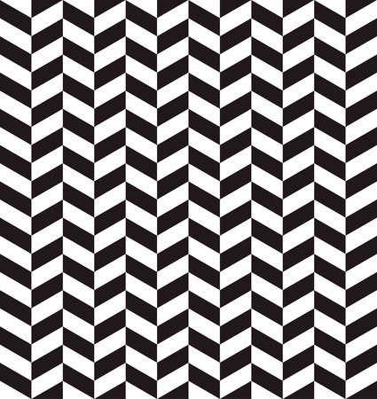 three dimensions: abstract chevrons pattern background with black and white