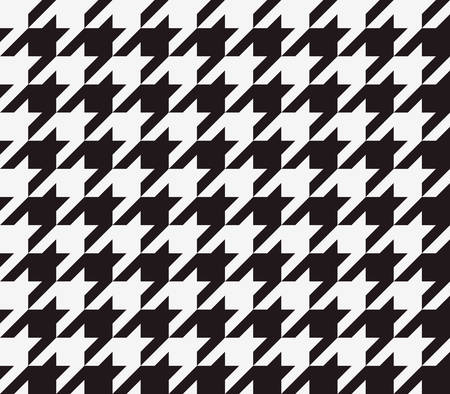 three dimensions: Seamless houndstooth pattern background with black and white