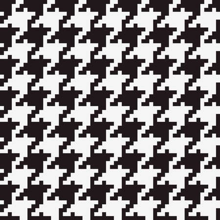three dimensions: abstract houndstooth pattern background with black and white Illustration