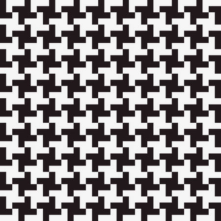 three dimensions: seamless geometric pattern background with black and white