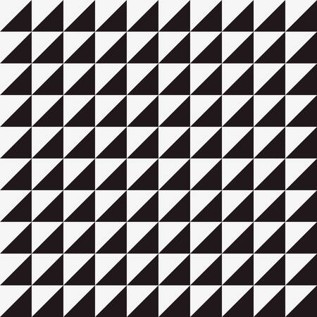 three dots: Seamless triangle  pattern background with black and white