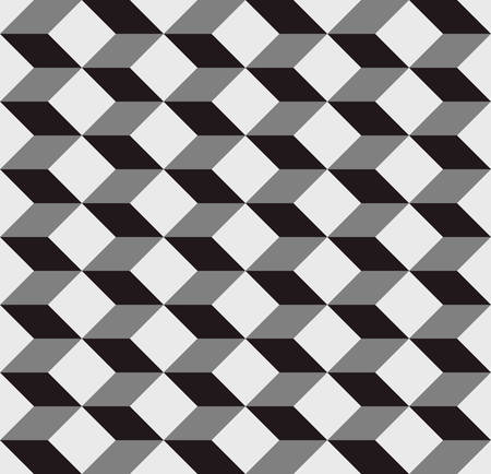 cubic: seamless cubic pattern with monochrome