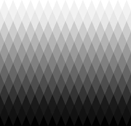 fade out: seamless monochrome rhombus pattern gardient Illustration
