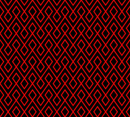 three dimension shape: abstract rhombus pattern background with red and black.vector Illustration