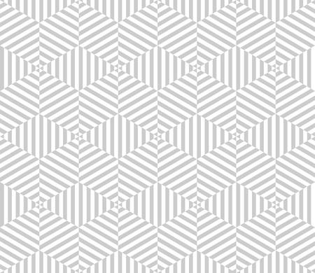 three dimensions: geometric pattern background with optical illusion