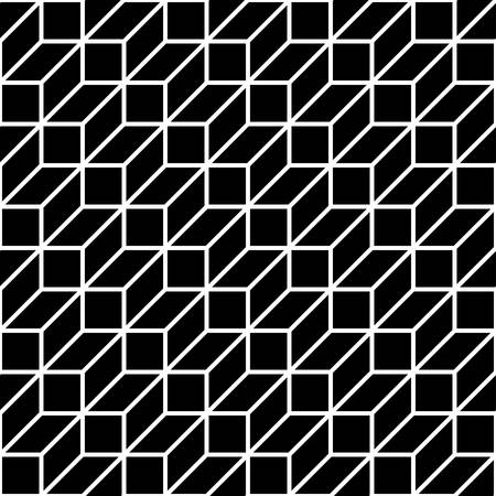 three dimensions: seamless pattern background with optical illusion