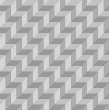three dimensions: abstract geometric seamless with monochrome.zigzag pattern background