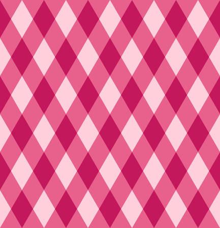 rhomb: geometrical rhomb seamless background with pink tone.greeting card Illustration