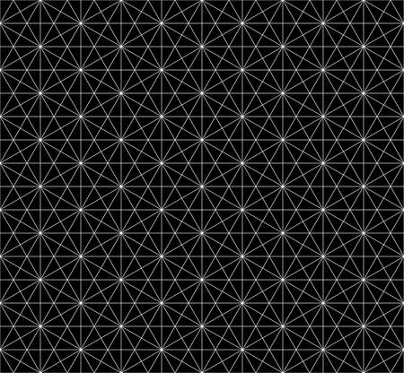 three dimensions: seamless hexagon pattern with monochrome.wireframe pattern