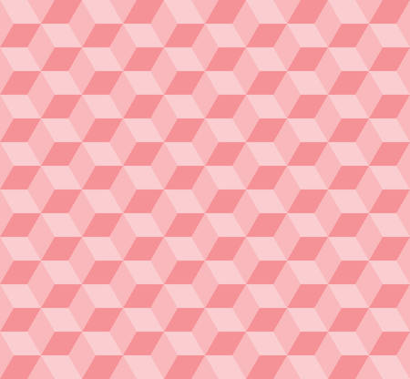 three dimensions: seamless cubic pattern with pink tone.pastel