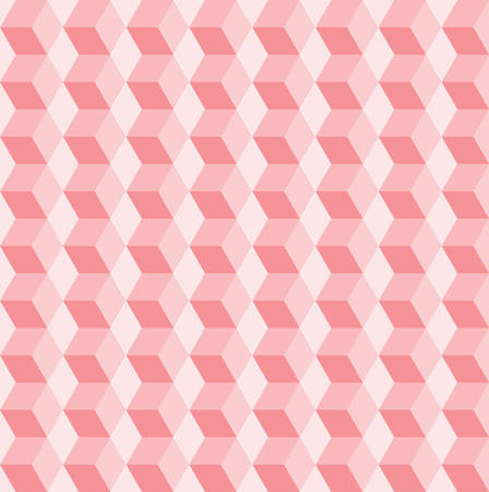 three dimensions: Seamless pattern of colored cubes.pastel Illustration
