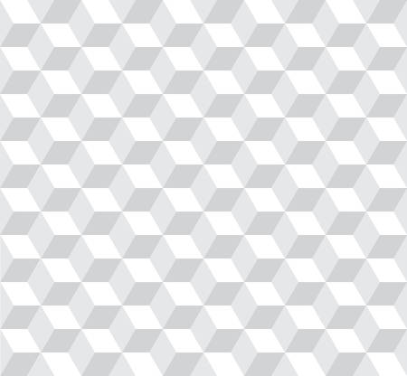 three dimensions: seamless cubic pattern with monochrome.light grey Illustration