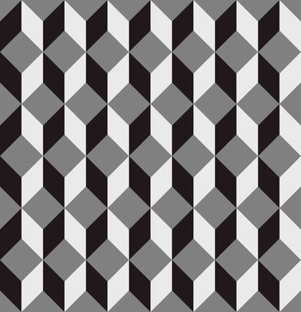 seamless cubic pattern background with optical illusion