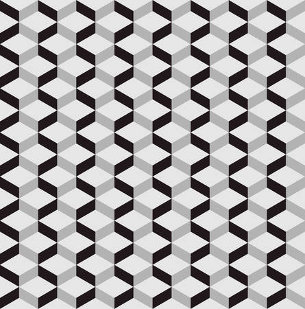 three dimensions: seamless pattern background with optical illusion.3D pattern