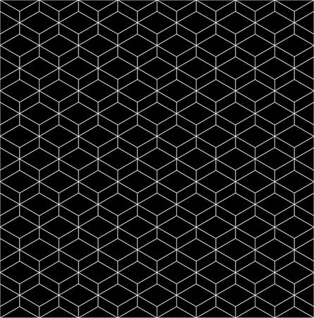 three dimensions: seamless pattern background with optical illusion.minimal background patterns Illustration