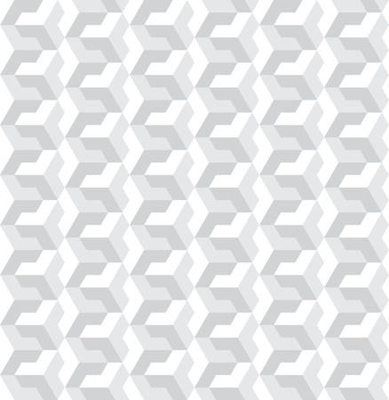 three dimensions: Abstract seamless geometric pattern with interlaced grids