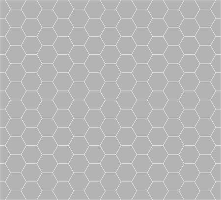 trapezium: hexagon vector pattern background with monochrome.football pattern.light grey color Illustration