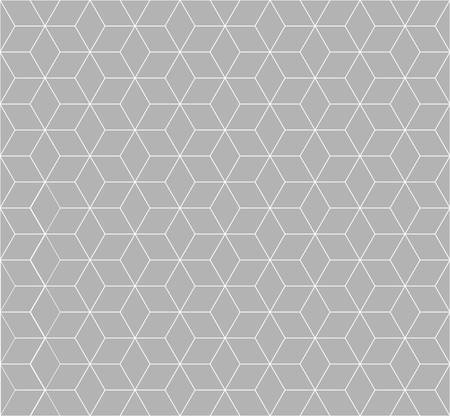 repetition: seamless cubic pattern with light grey.rhombus and minimalist and repetition and monochrome