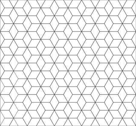 repetition: seamless cubic pattern with black and white.rhombus and minimalist and repetition and monochrome