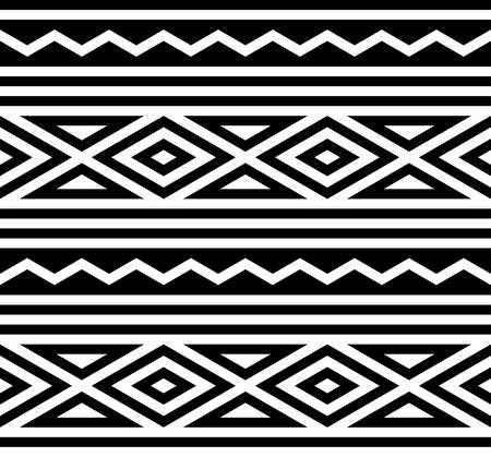 three dimensions: abstract ethnic pattern background with black and white.native pattern Illustration