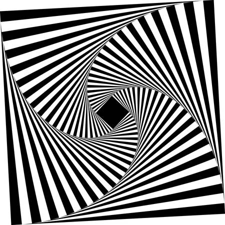 abstract monochrome square geometric pattern background.optical art Vector Illustration