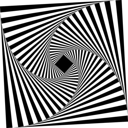 abstracte monochrome vierkante geometrische patroon background.optical art Vector Illustratie