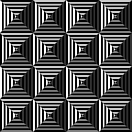 art optique géométrique noir et white.triangle motif background.Vector Vecteurs