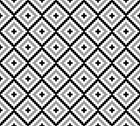 three dimensions: abstract ethnic pattern background.native pattern.monochrome color.geometric vector Illustration