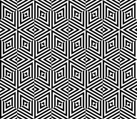 three dimensions: geometric pattern background with optical illusion.hexagon and triangle pattern