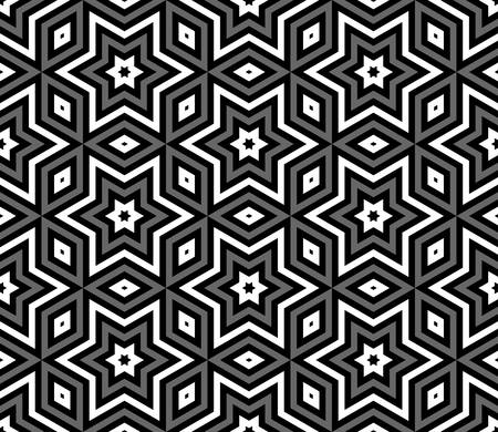 three dimensions: abstract triangle background with arabic pattern.monochrome color Illustration
