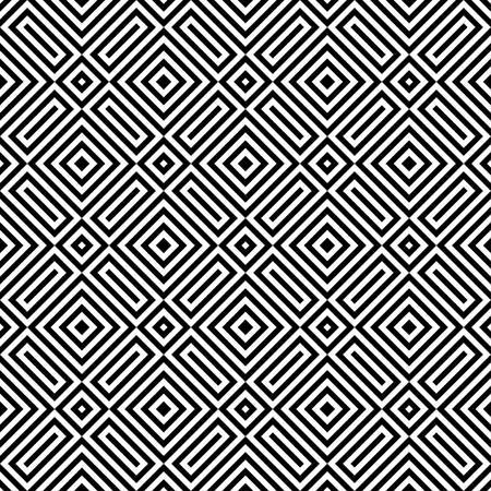 abstrait motif carré avec coins.black et blanc color.ethnic pattern