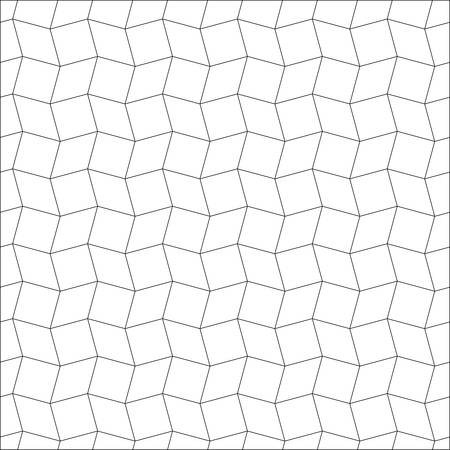 three dimensions: Seamless geometric pattern.rhombus pattern in black and white.simple rotating squares background