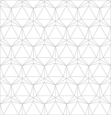solid line: triangle simple pattern background.icosahedron line drawing.platonic solid Illustration