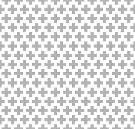 three dots: abstract ethnic pattern background.native pattern.seamless geometric crosses pattern.grey color Illustration