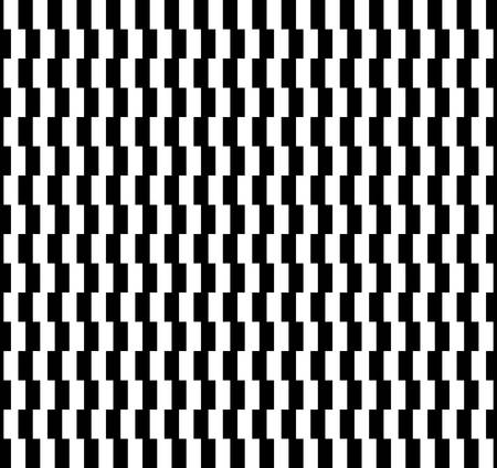 disappearing point: Zipper Pattern .Optical Illusion Monochrome Abstract Background