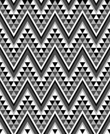 three dimensions: zigzag background.ethnic pattern of triangles .african pattern in monochrome