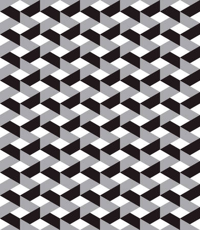 grid pattern: optical illusion .trapezoid pattern background with monochrome.interlaced grid pattern