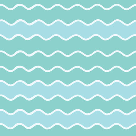 Vector seamless pattern of waves. Vector background