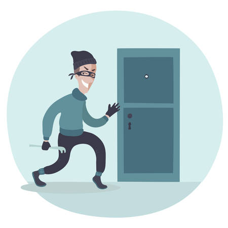 attacker: Vector illustration of the sneaking bugler Illustration