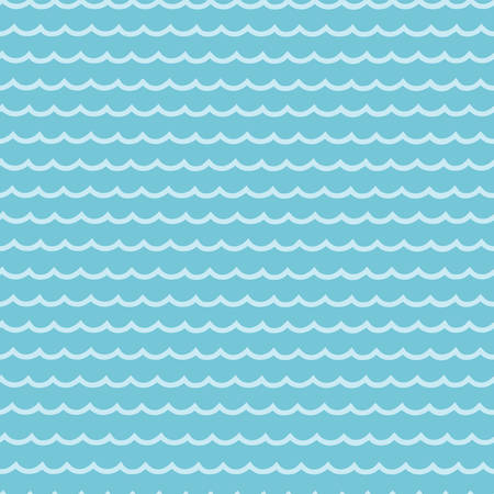 Vector seamless of calm water pattern. Blue oceans, river, sea or lakes background. Light waves