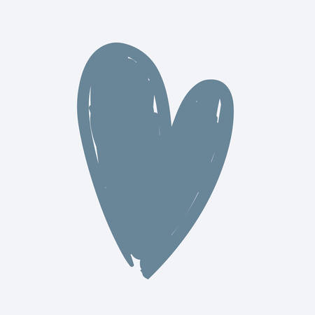 Cartoon vector illustration of Hand drawn Heart on white. Иллюстрация