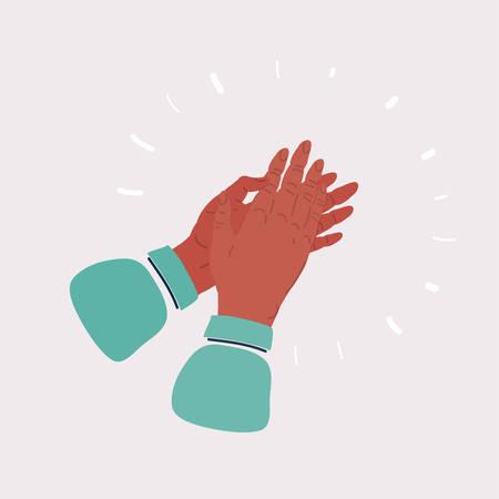 Applause human hands icon on white background. Ilustración de vector