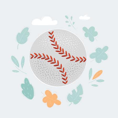 Illustration of Baseball ball isolated on white background