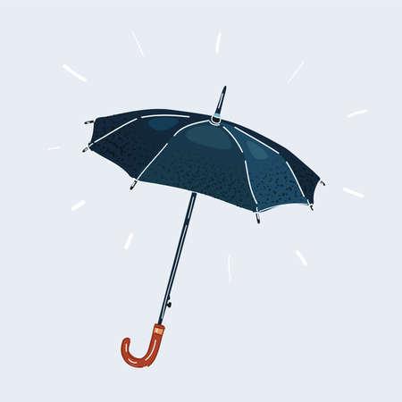 Illustration of dark Umbrella isolated on white background