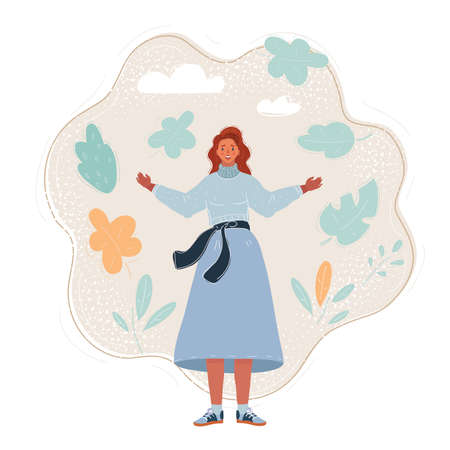 Vector illustration of woman full length