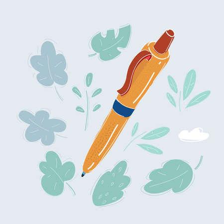 Vector illustration of pen on white background.