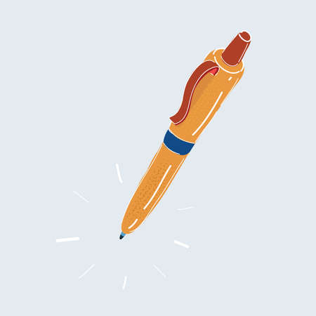 Vector illustration of Pen on white backround. Stock Illustratie